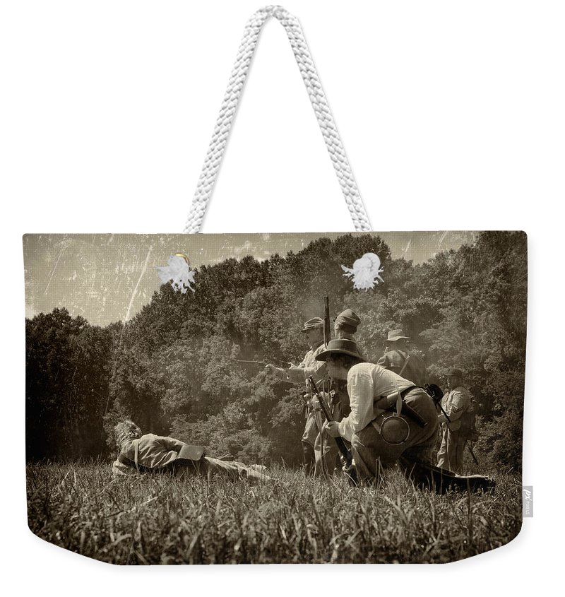 Civil Weekender Tote Bag featuring the photograph Holding The Line by Scott Wyatt