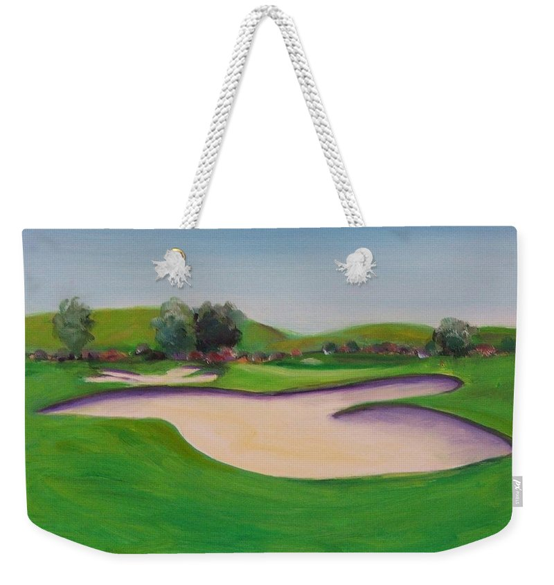 Golf Weekender Tote Bag featuring the painting Hole 10 Pastures Of Heaven by Shannon Grissom