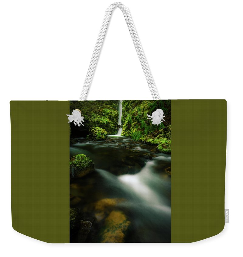 Waterfall Weekender Tote Bag featuring the photograph Hole In The Wall Falls by Daniel Gomez
