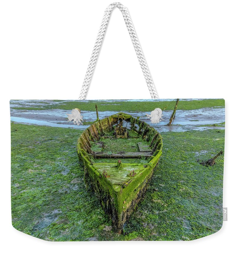 Boat Wrecks Weekender Tote Bag featuring the photograph Holes Bay - England by Joana Kruse