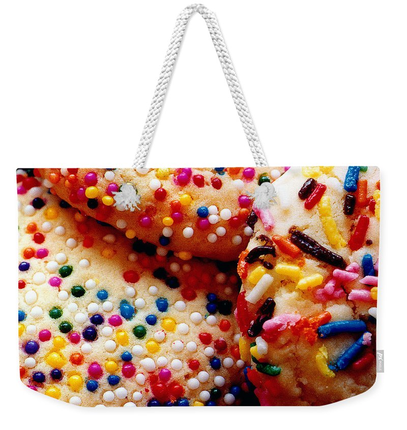 Cookie Weekender Tote Bag featuring the photograph Holiday Cookies by Nancy Mueller