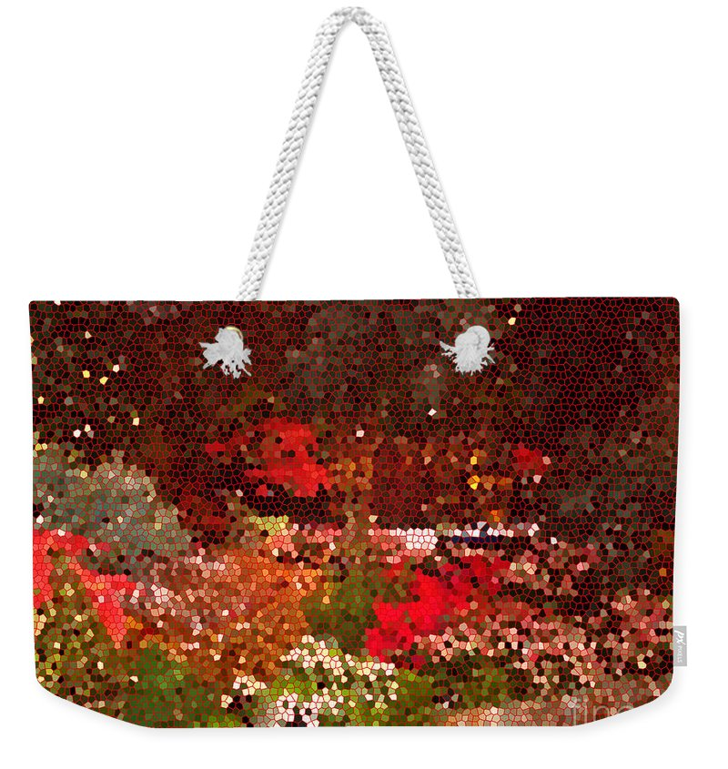 Digital Weekender Tote Bag featuring the photograph Holiday Mosaic by Nancy Mueller