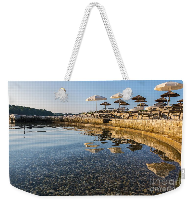 Bay Weekender Tote Bag featuring the photograph Holiday Reflections by Svetlana Sewell