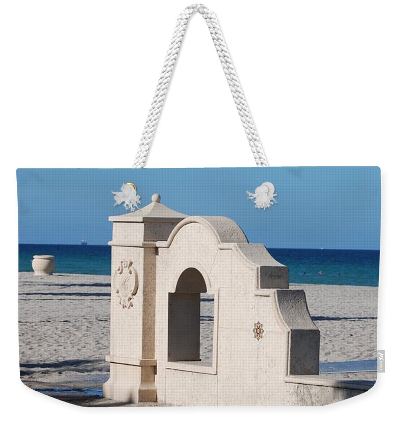 Beach Weekender Tote Bag featuring the photograph Hollywood Beach Wall In Color by Rob Hans