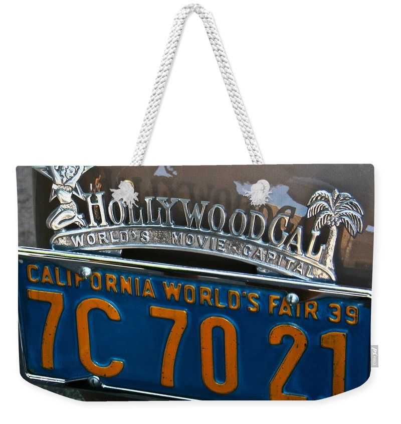 Photograph Weekender Tote Bag featuring the photograph Hollywood by Gwyn Newcombe