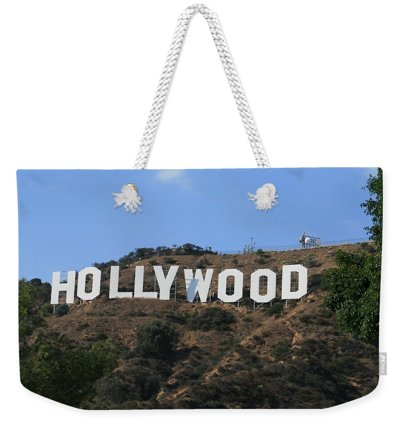 Hollywood Weekender Tote Bag featuring the photograph Hollywood by Marna Edwards Flavell