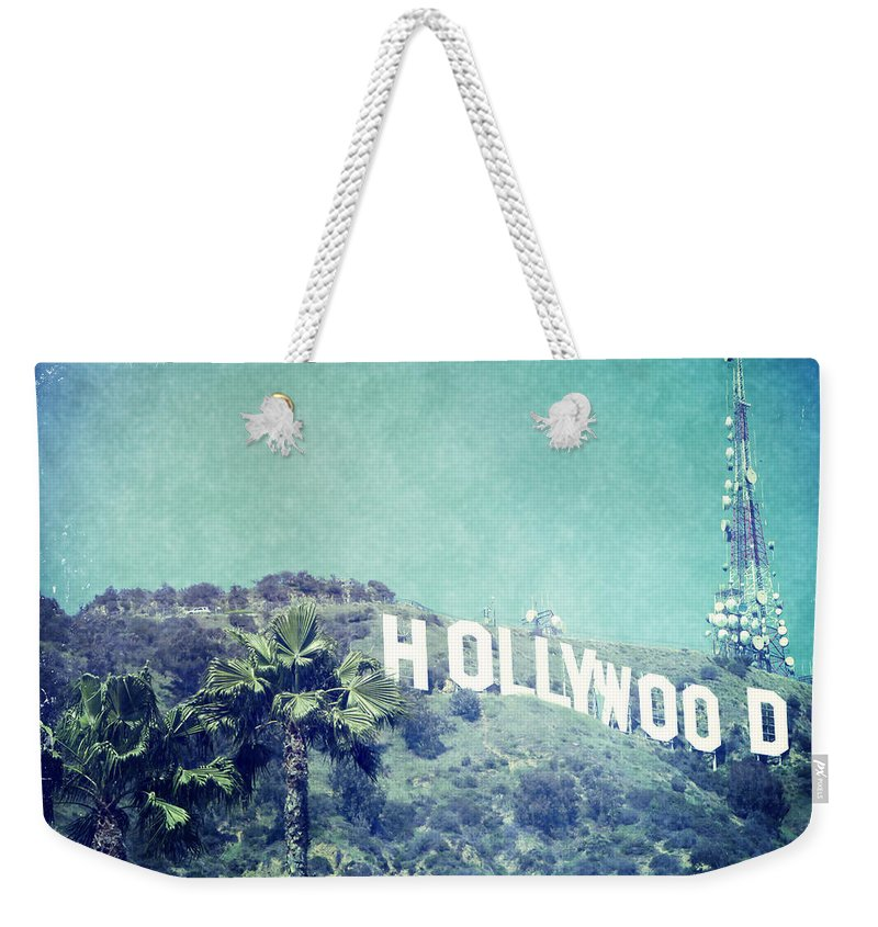 Hollywood Sign Weekender Tote Bag featuring the photograph Hollywood Sign by Nina Prommer