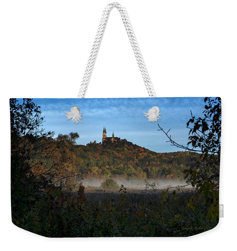 Holy Hill Weekender Tote Bag featuring the photograph Holy Hill In Fall by Jayne Gohr