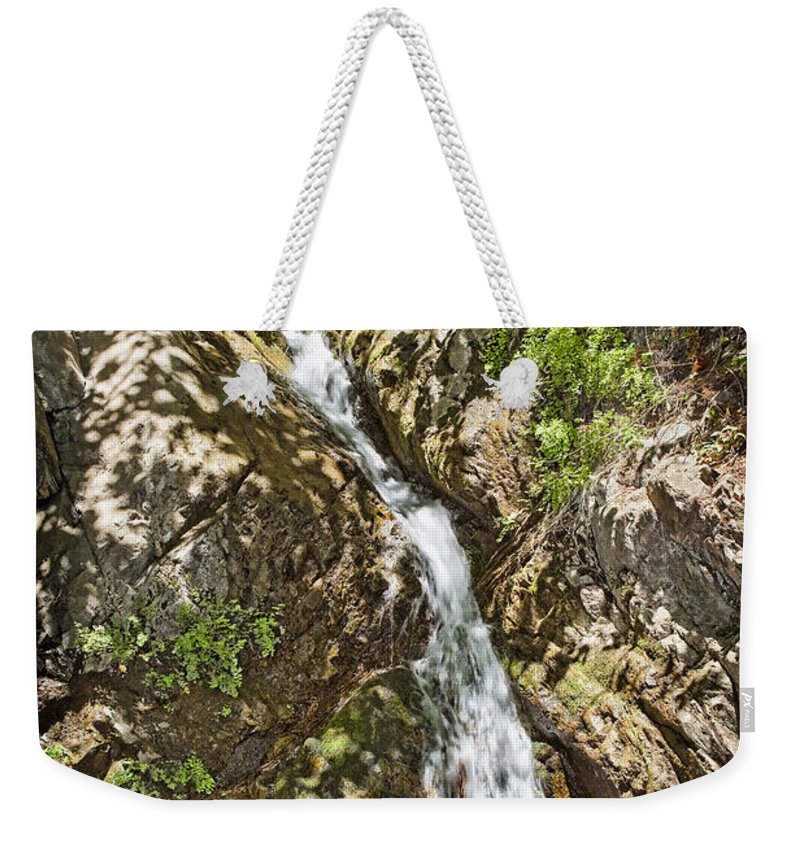 Holy Jim Falls Weekender Tote Bag featuring the photograph Holy Jim Falls by Kelley King