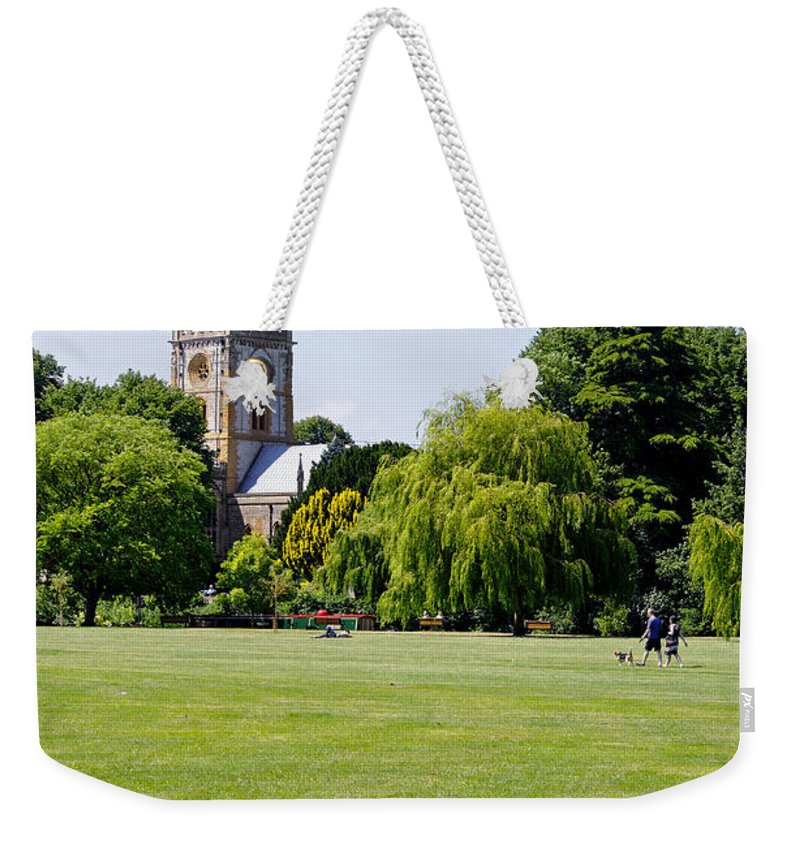 Europe Weekender Tote Bag featuring the photograph Holy Trinity Church At Stratford Upon Avon by Rod Johnson