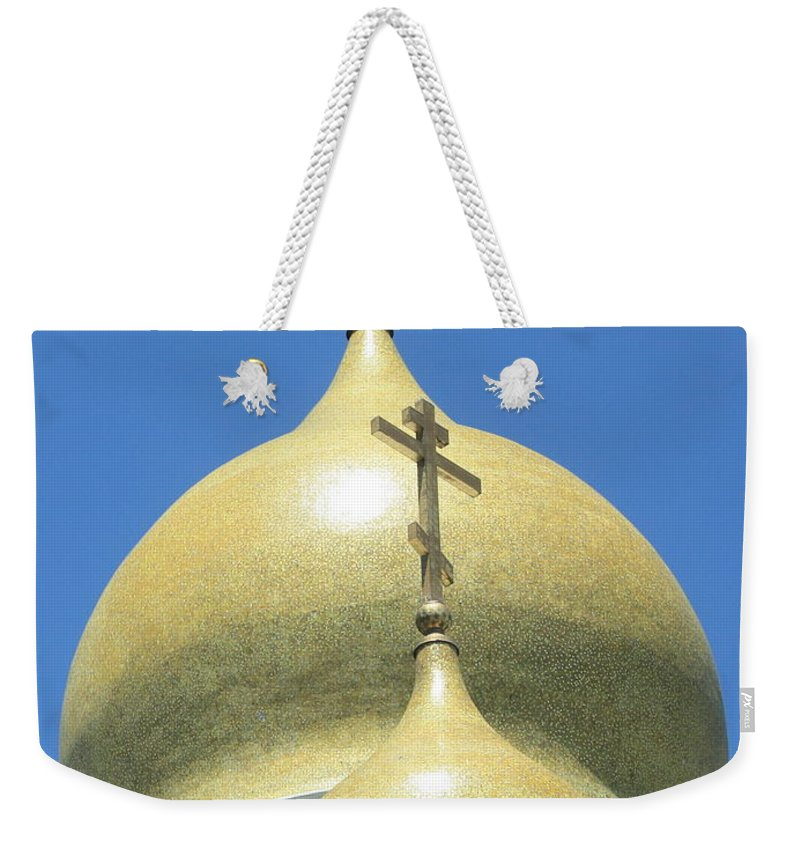 Holy Virgin Cathedral Weekender Tote Bag featuring the photograph Holy Virgin Cathedral In San Francisco by Carol Groenen