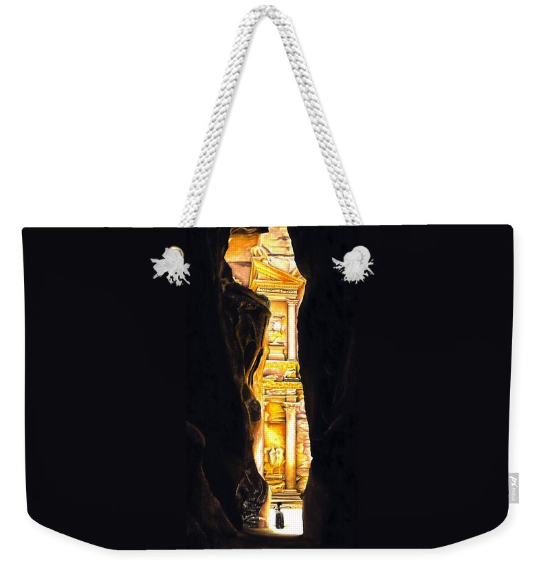 Bellydancer Weekender Tote Bag featuring the painting Homage to Petra by Richard Young