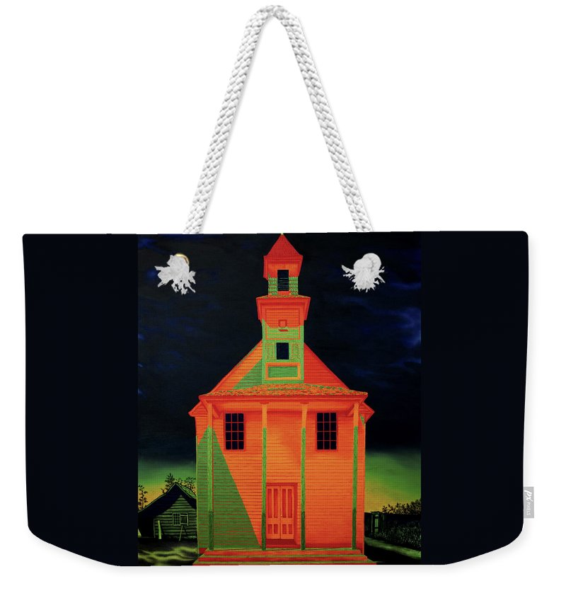 Walker Evans Weekender Tote Bag featuring the painting Homage To Walker Evans by Joe Michelli
