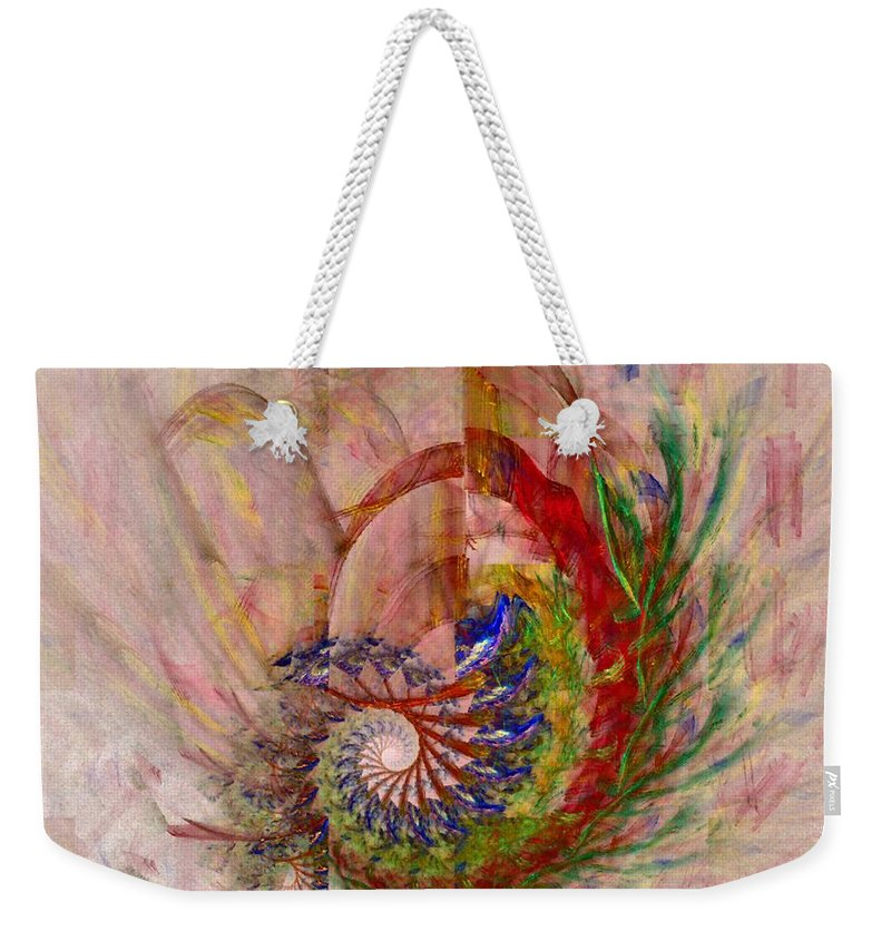 Non-representational Weekender Tote Bag featuring the digital art Home By The Sea by NirvanaBlues
