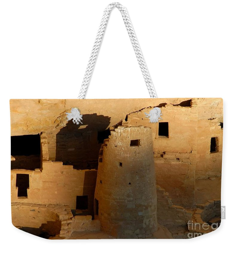 Anasazi Weekender Tote Bag featuring the photograph Home Of The Anasazi by David Lee Thompson
