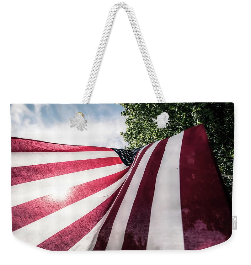 American Weekender Tote Bag featuring the photograph Home Of The Free by Patricia Mast