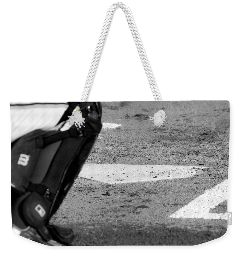 Home Weekender Tote Bag featuring the photograph Homeland Security by Laddie Halupa