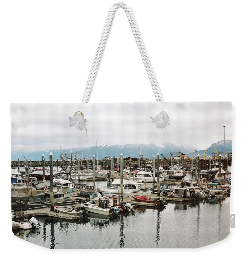 Landscape Weekender Tote Bag featuring the photograph Homer Boat Dock by Kate Lamb