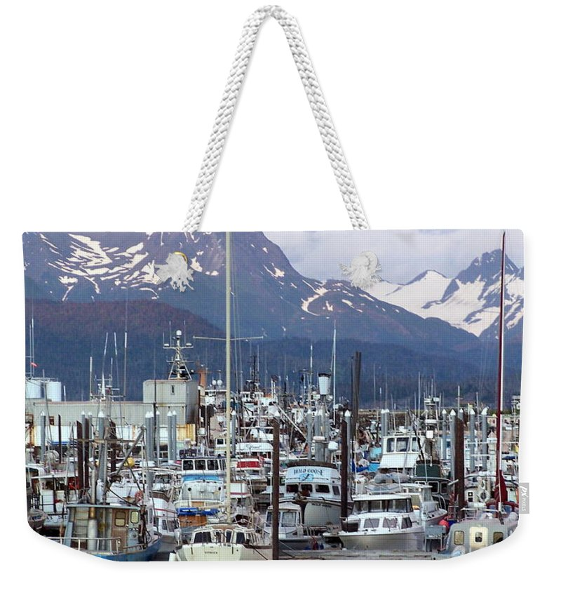 Homer Alaska Weekender Tote Bag featuring the photograph Homer Harbor by Marty Koch