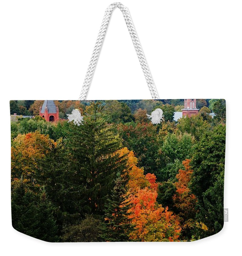 Landscape Weekender Tote Bag featuring the photograph Homer Ny by David Lane