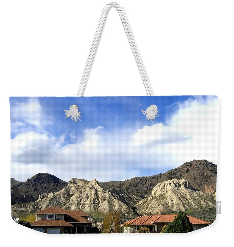 Houses Weekender Tote Bag featuring the photograph Homes And Hoodoos by Will Borden
