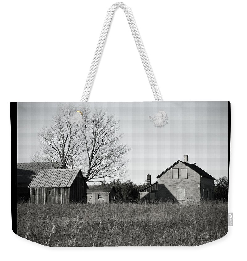 Deserted Weekender Tote Bag featuring the photograph Homestead by Tim Nyberg