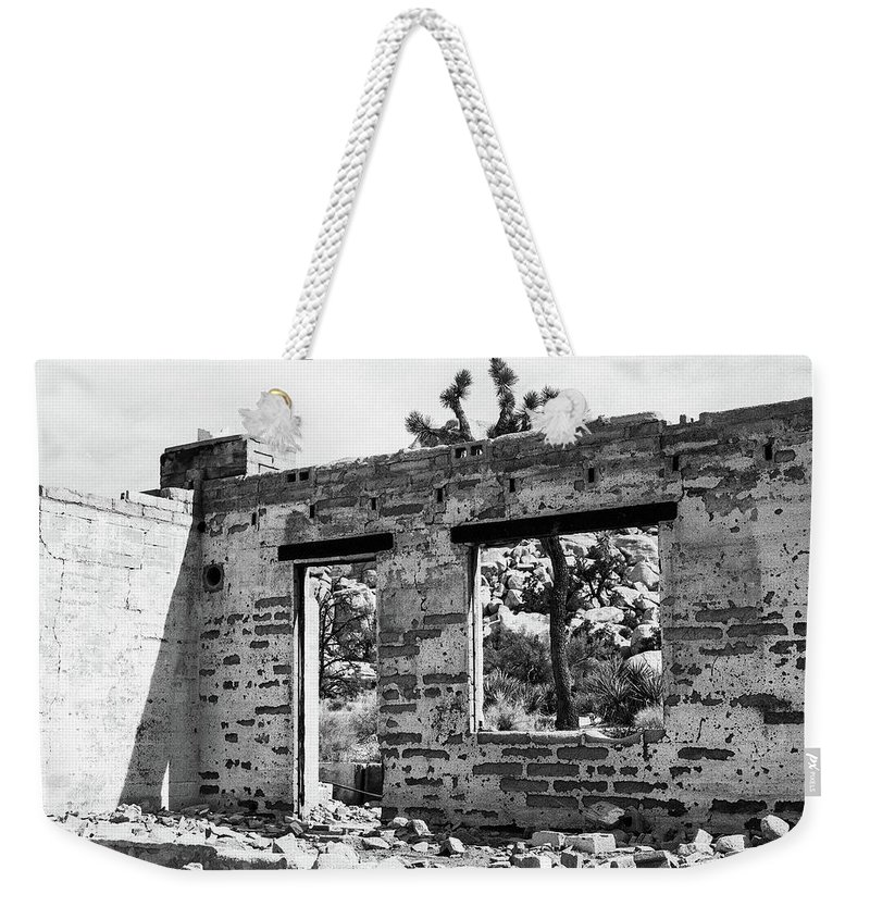 Joshua Tree Weekender Tote Bag featuring the photograph Homestead Ruins by Alex Snay