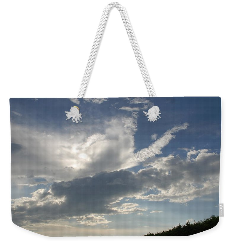 Sky Weekender Tote Bag featuring the photograph Homestead Sky by Rob Hans