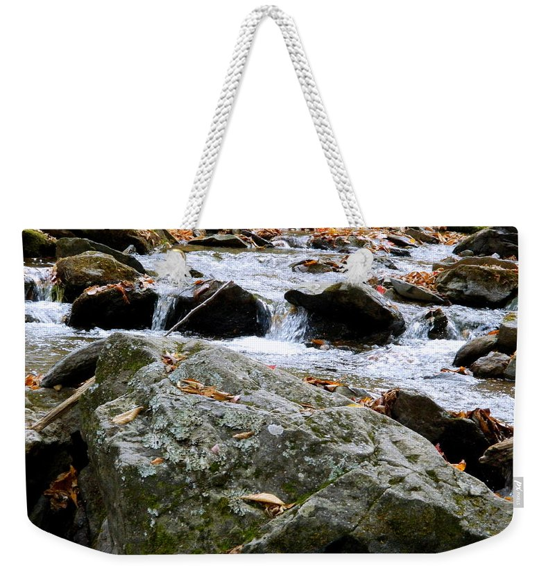 Stream Weekender Tote Bag featuring the photograph Hometown Series - Blue Ridge Parkway by Arlane Crump