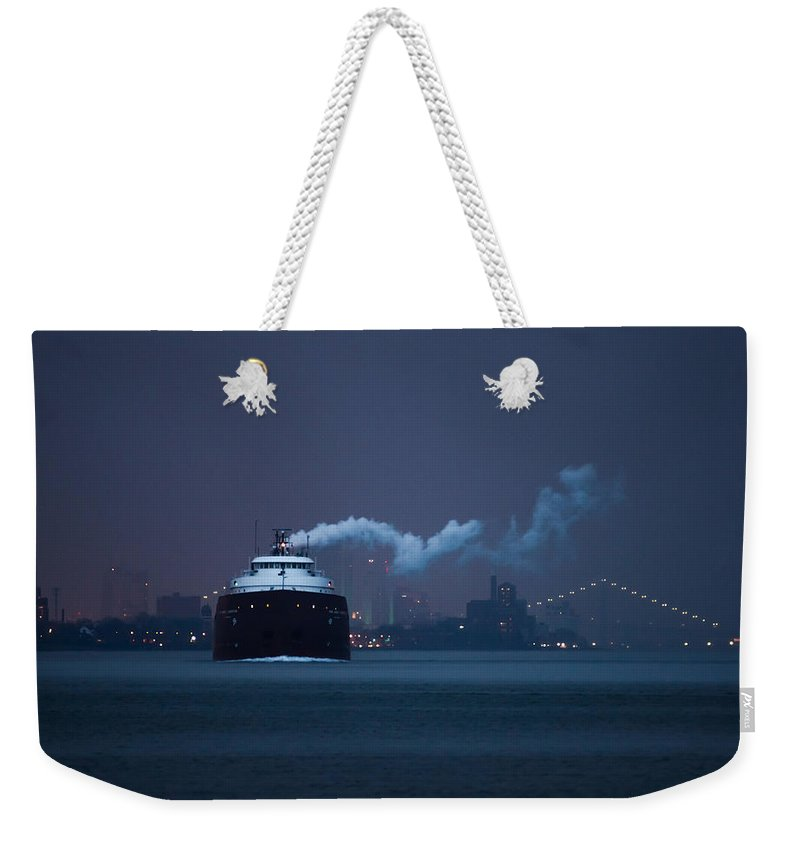 Boat Weekender Tote Bag featuring the photograph Hon. James L. Oberstar by Cale Best