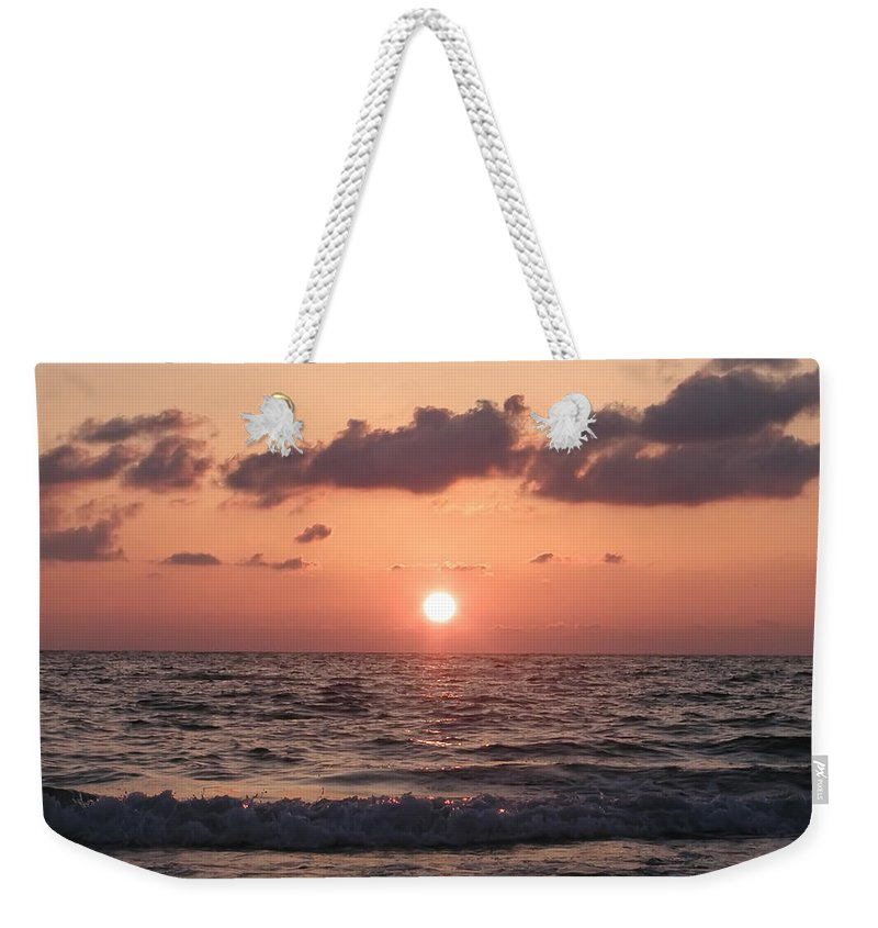Honeymoon Island Weekender Tote Bag featuring the photograph Honey Moon Island Sunset by Bill Cannon