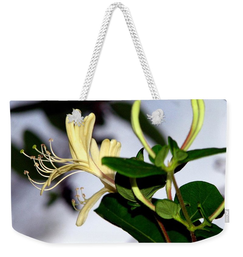 Honeysuckle Weekender Tote Bag featuring the photograph Honeysuckle by J M Farris Photography