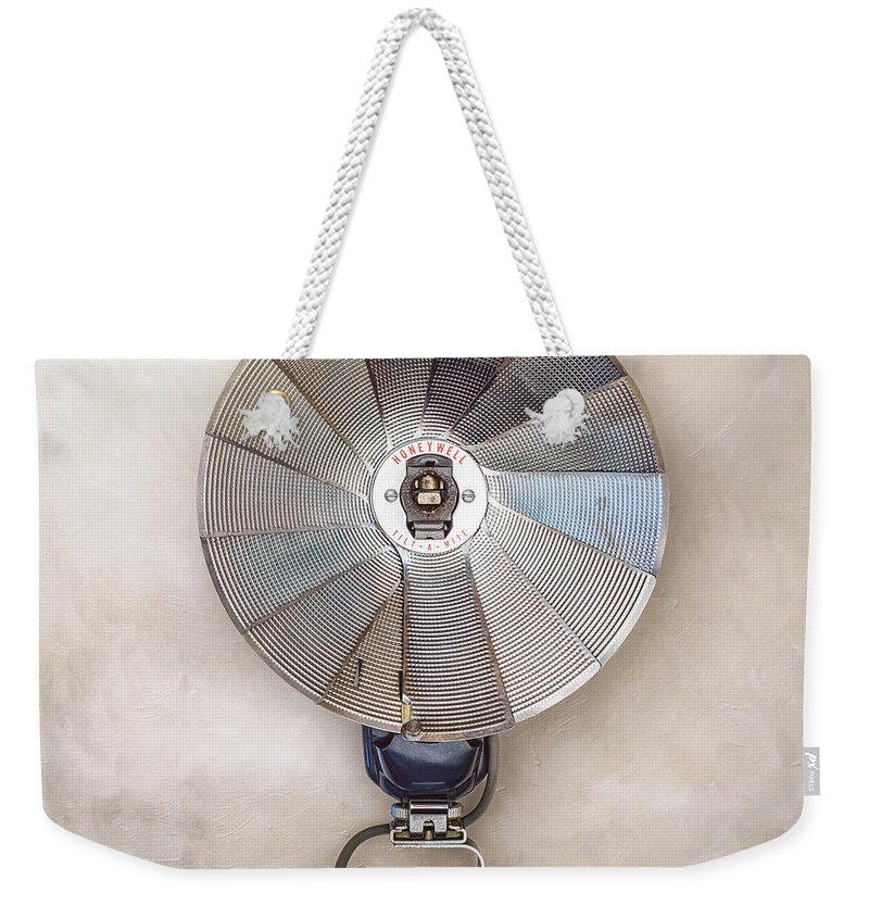 Vintage Camera Gear Weekender Tote Bag featuring the photograph Honeywell Tilt-a-mite by Scott Norris