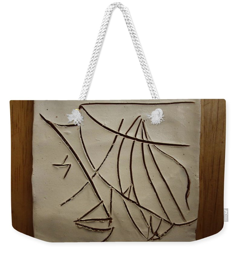 Jesus Weekender Tote Bag featuring the ceramic art Honour - Tile by Gloria Ssali
