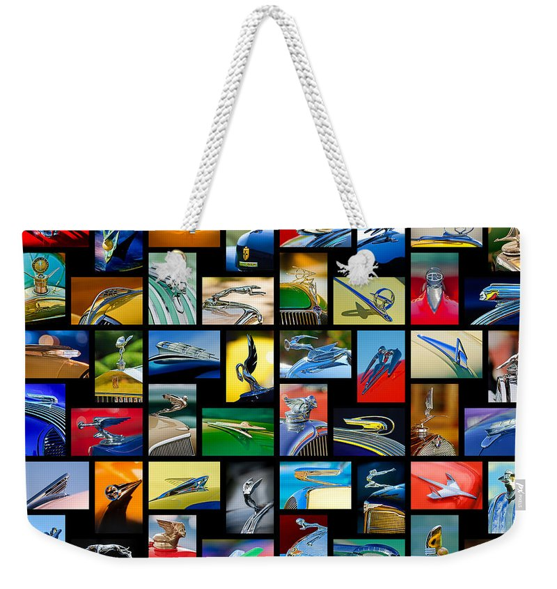 Hood Ornament Weekender Tote Bag featuring the photograph Hood Ornament Art -10 by Jill Reger