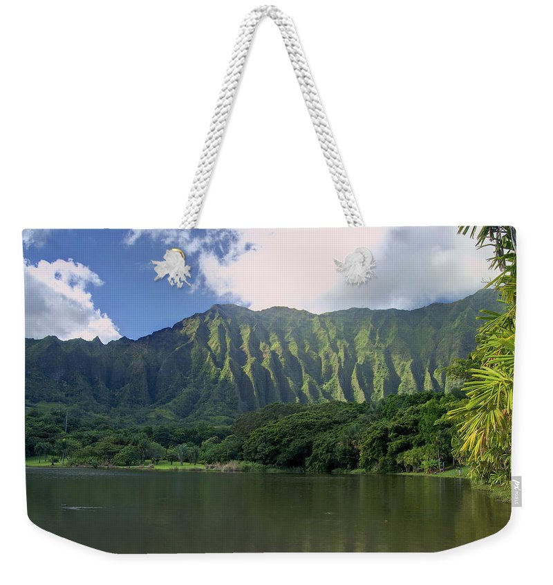 Hoomaluhia. Botanical Weekender Tote Bag featuring the photograph Hoolanluhia Botanical Garden by Michael Peychich