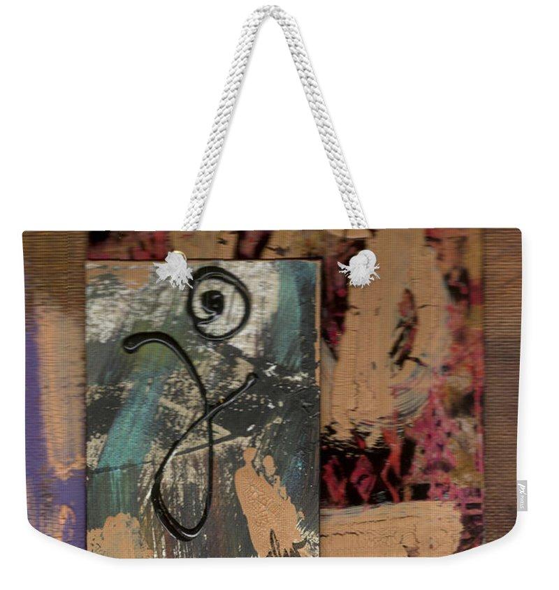 Wood Weekender Tote Bag featuring the mixed media Hooray by Angela L Walker