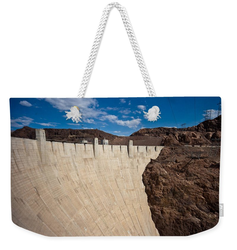 Hoover Dam Weekender Tote Bag featuring the photograph Hoover Dam by Robert J Caputo