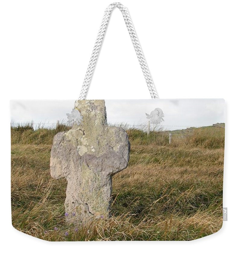 Cross Weekender Tote Bag featuring the photograph Hope by Kelly Mezzapelle