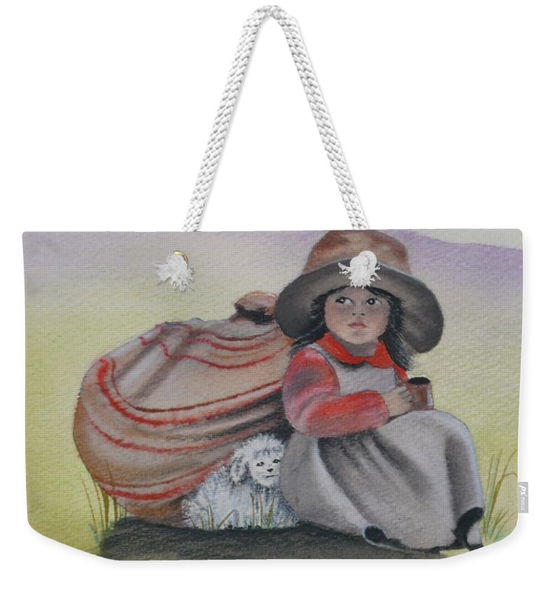 Children Weekender Tote Bag featuring the painting Hope by Kris Crollard