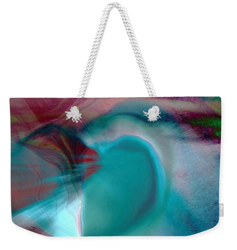 Hearts Weekender Tote Bag featuring the digital art Hope by Linda Sannuti
