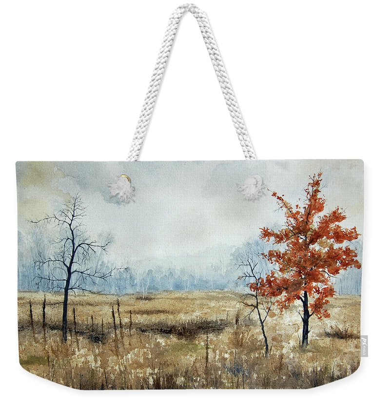 Hope Weekender Tote Bag featuring the painting Hope by Mary Tuomi