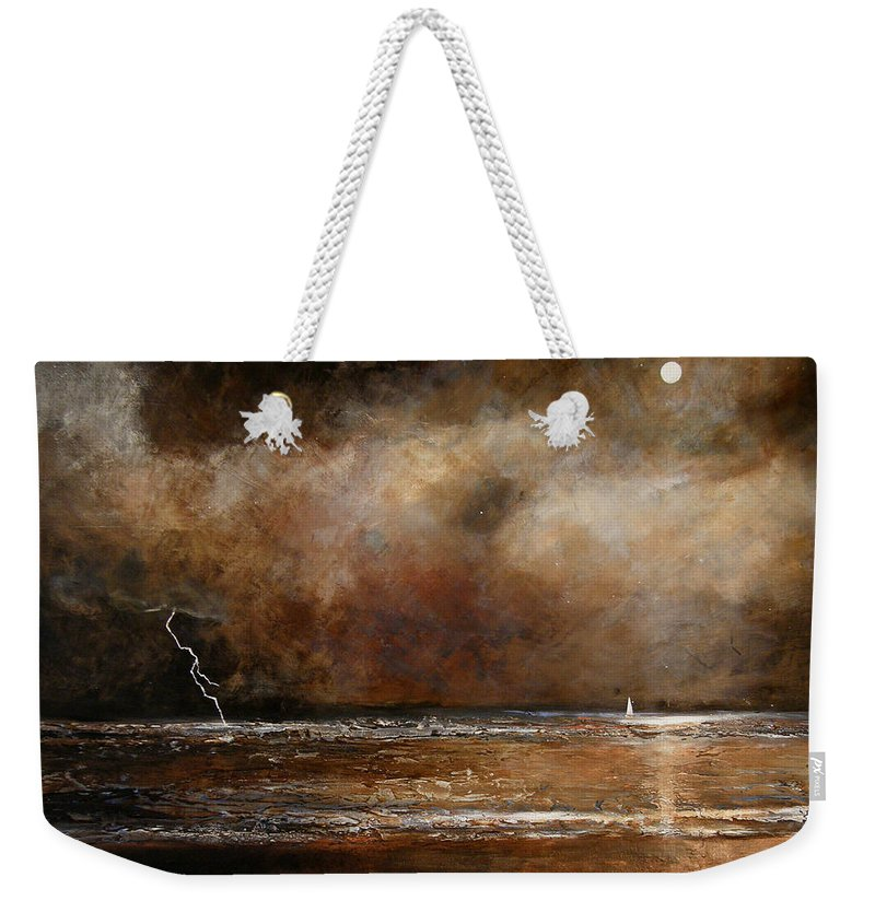 Abstract Weekender Tote Bag featuring the painting Hope On The Horizon by Toni Grote