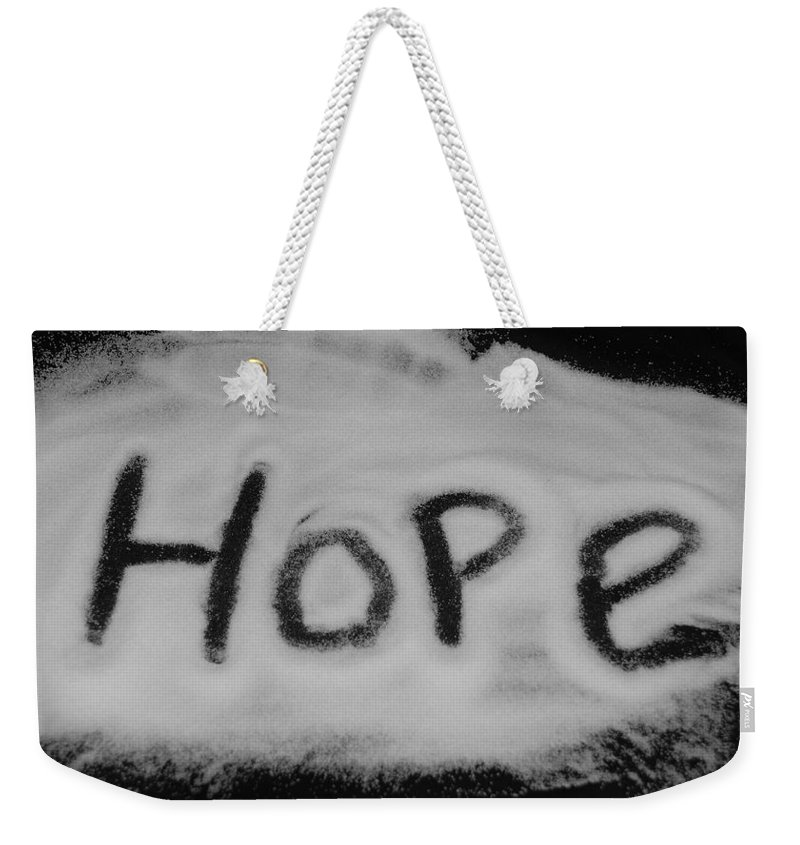 Black And White Weekender Tote Bag featuring the photograph Hope by Rob Hans