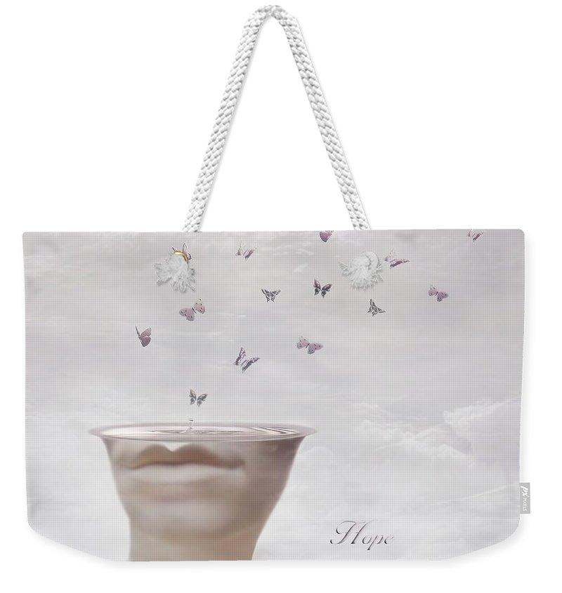 Surreal Weekender Tote Bag featuring the digital art Hope Springs Eternal by Jacky Gerritsen