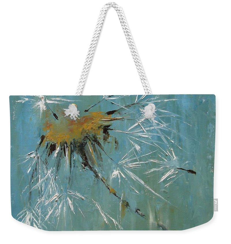 Plants Weekender Tote Bag featuring the painting Hopes by Barbara Andolsek