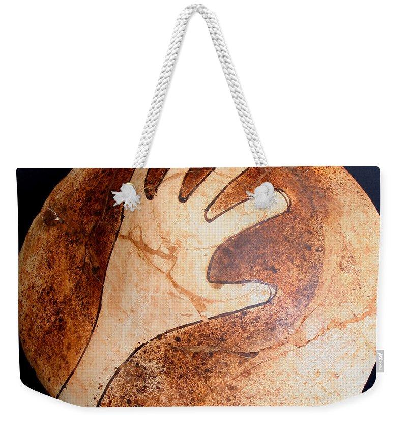 Amerind Weekender Tote Bag featuring the photograph Hopi Jar Fragment by Joe Kozlowski