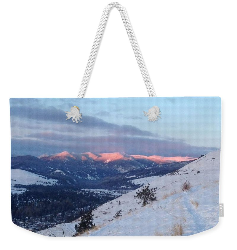 Weekender Tote Bag featuring the photograph Horizon Light by Dan Hassett