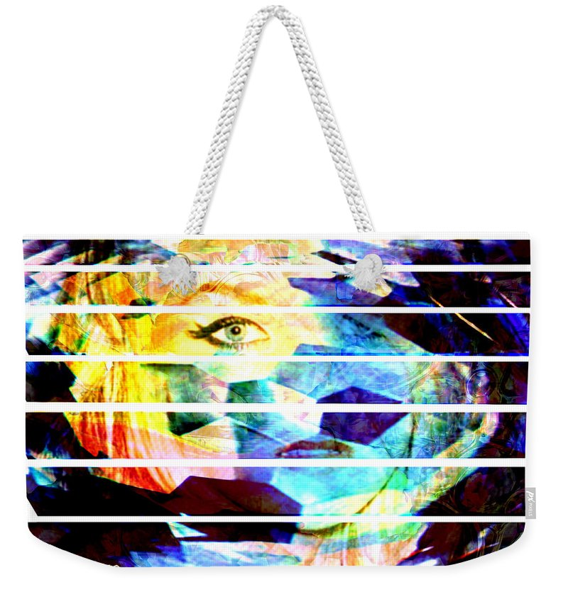 Woman Weekender Tote Bag featuring the digital art Horizontal View by Seth Weaver