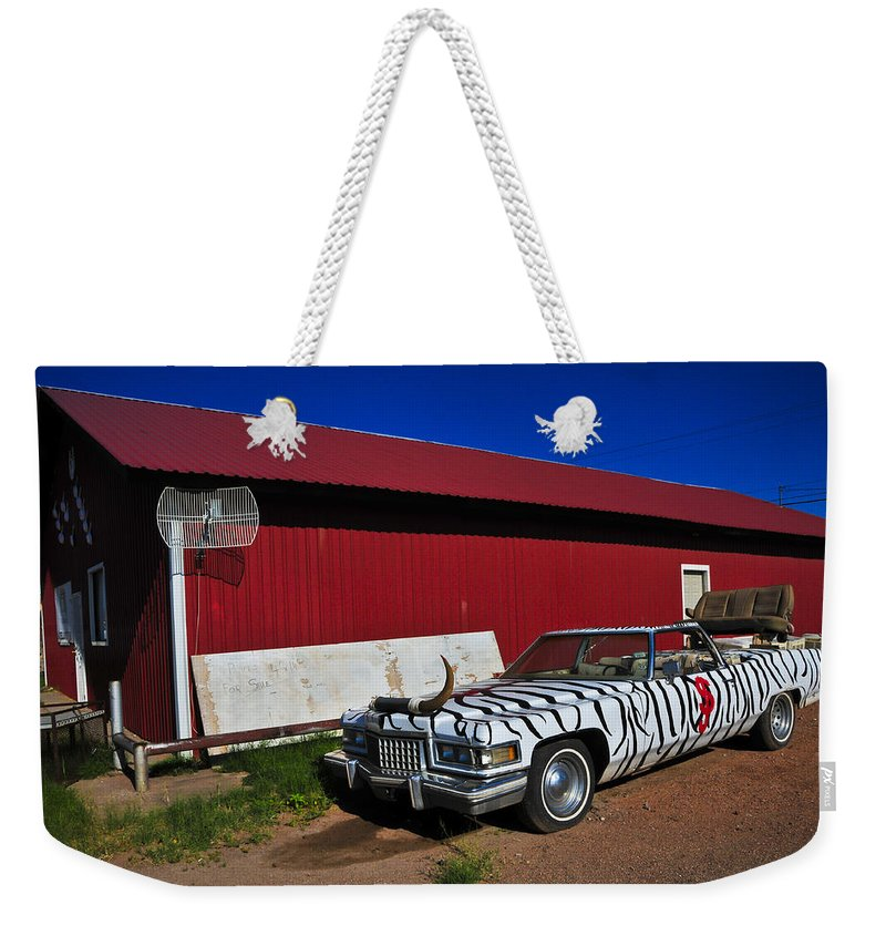Horn Dog Weekender Tote Bag featuring the photograph Horn Dog by Skip Hunt